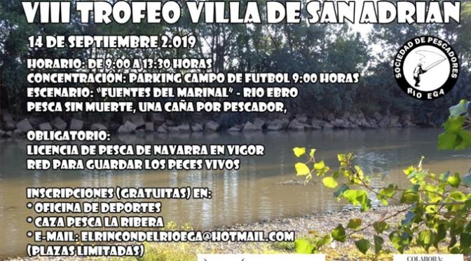 Este sábado VIII Trofeo de pesca de San Adrián