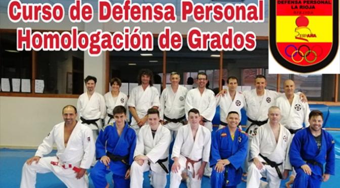 Primer curso de Defensa Personal para preparación y Homologación de grados en Calahorra