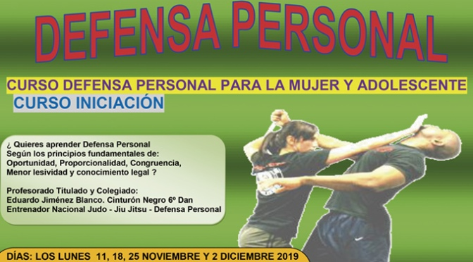 CURSO-TALLER DE DEFENSA PERSONAL PARA LA MUJER en Calahorra