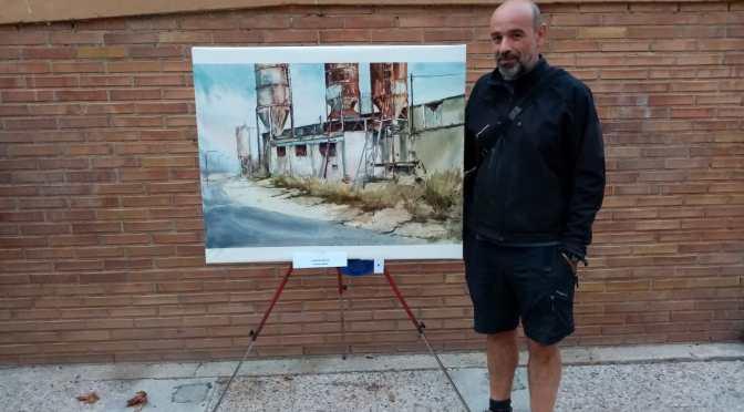 Carlos Espiga Alonso de Bilbao gana el Concurso de Pintura al Aire Libre de San Adrián