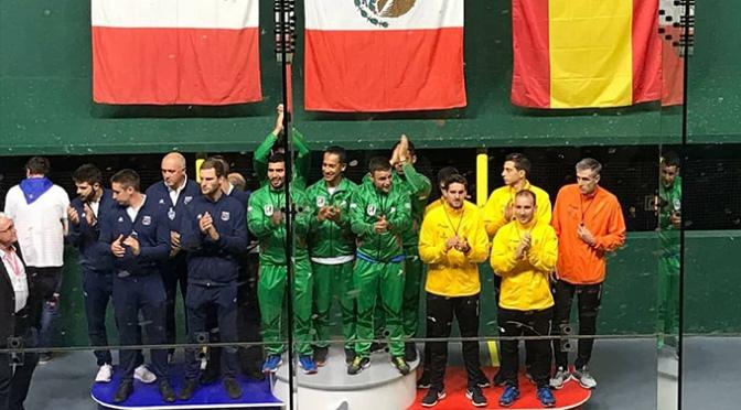 Medalla de bronce para el pradejonero Álvaro Garatea en el mundial de Trinquete