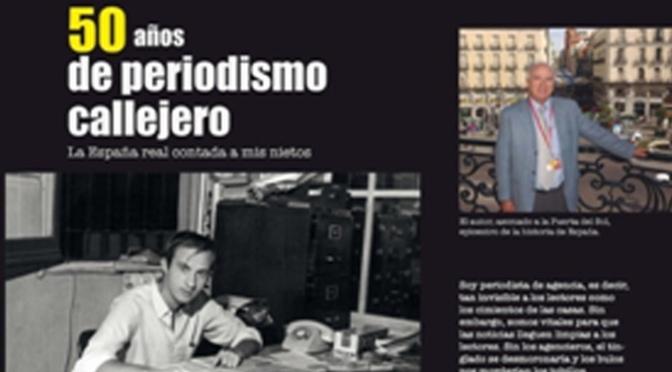 """Presentación del libro """"50 años de periodismo callejero"""", del periodista calagurritano Antonio Martín Escorza"""