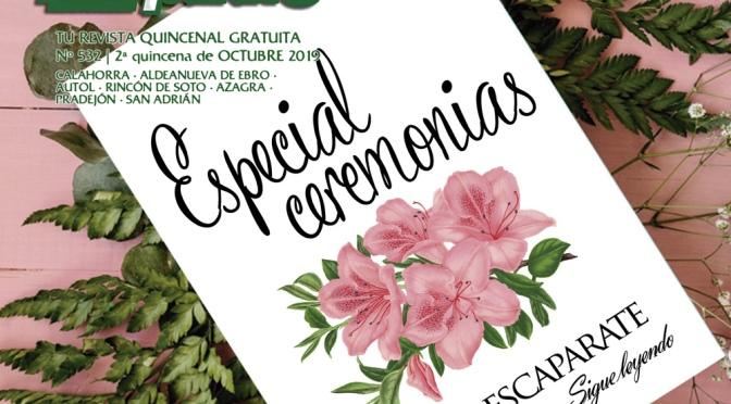 """""""Una ceremonia para recordar"""" en Escaparate 2ª Quincena de Octubre"""