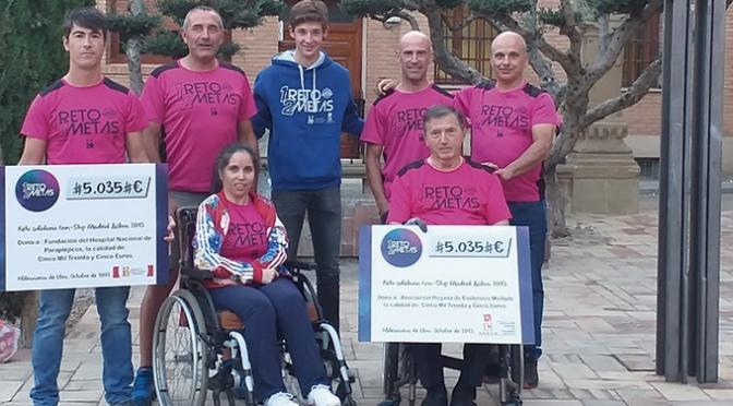 """Más de 10.000€ recaudados gracias al reto """"UN RETO DOS METAS"""""""