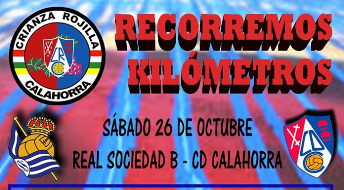 La Crianza Rojilla acompañará al CD Calahorra este fin de semana en San Sebastián