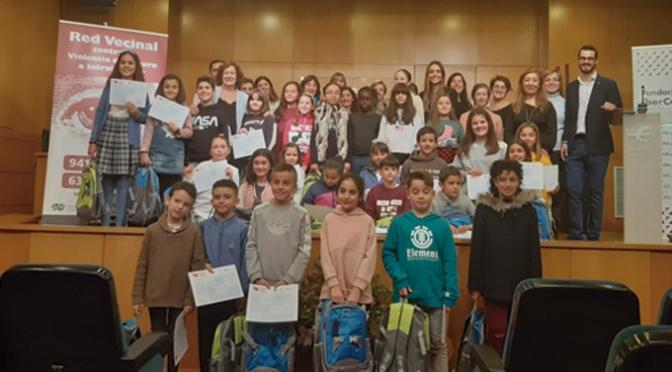 Alumnos de Primaria del centro La Milagrosa de Calahorra premiados en el XII concurso 'Dibujando por los buenos tratos'