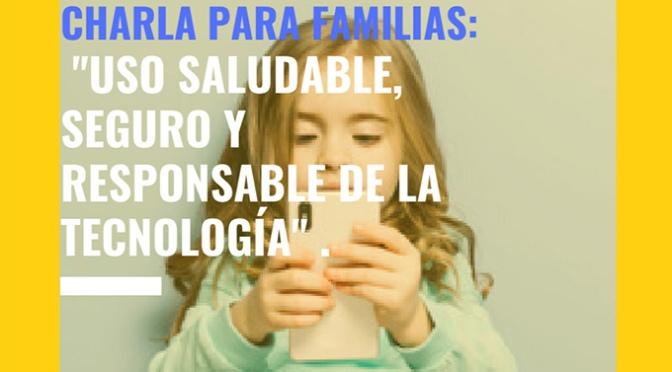 Charla para familias sobre el uso de la tecnología en Alfaro