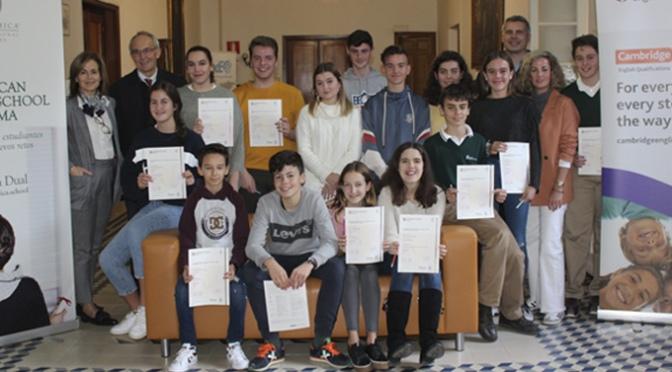 Más de 70 alumnos de Teresianas obtienen la certificación de inglés