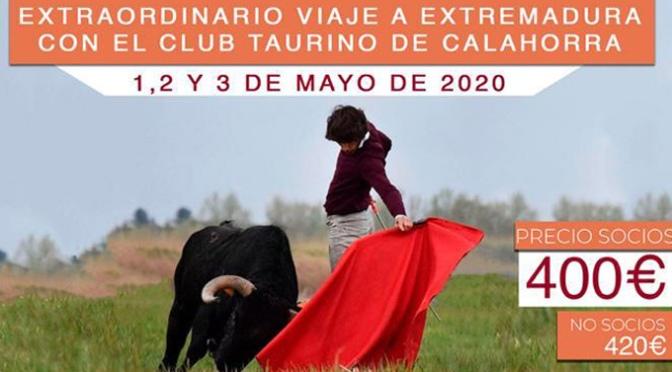 El Club Taurino de Calahorra organiza un nuevo viaje para Mayo
