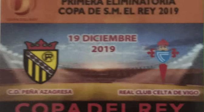 A la venta las entradas para el partido de Copa del Rey entre la Peña Azagresa y el Celta de Vigo