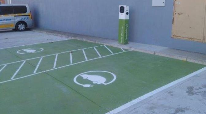 Primer punto de recarga eléctrico público de Calahorra