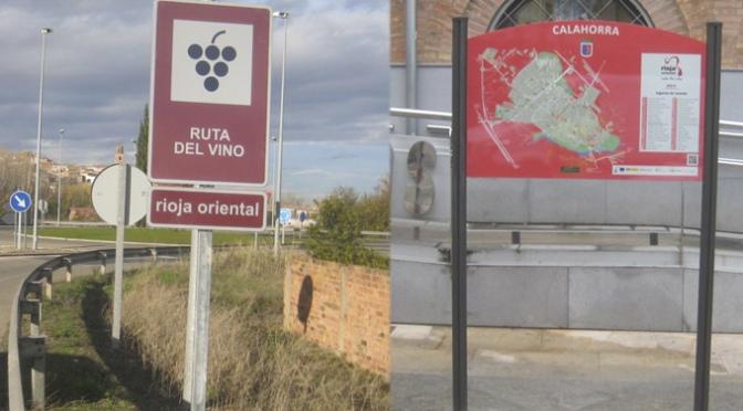 Renovadas las señales de la Ruta del Vino de Rioja Oriental