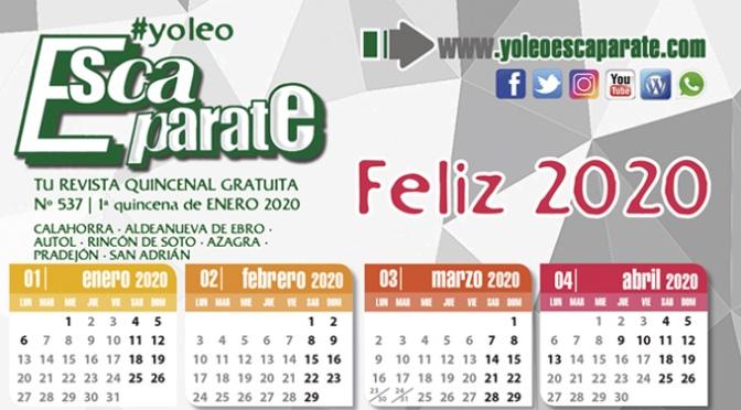 Feliz 2020! en Escaparate 1ª Quincena de Enero