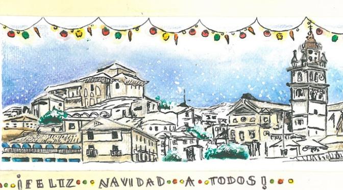 La tarjeta de Ana Sofía Flores ganadora del concurso de felicitaciones navideñas