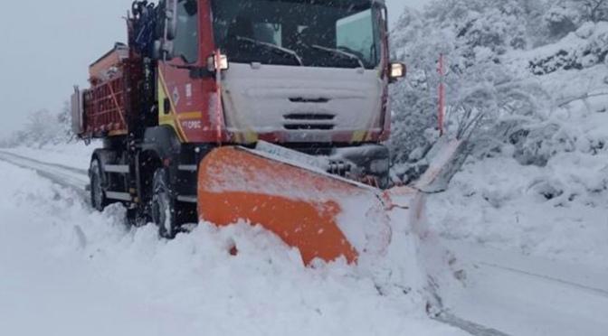 Estado de las carreteras de La Rioja y Navarra por meteorología adversa