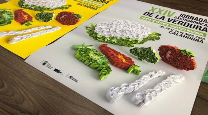 Verduras realizadas con papel son las protagonistas de la imagen de las XXIV Jornadas Gastronómicas de la verduras