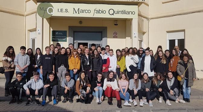 Intercambio de alumnos del IES Marco Fabio Quintiliano y alumnos de de Lycée Stendhal de Aiguillo