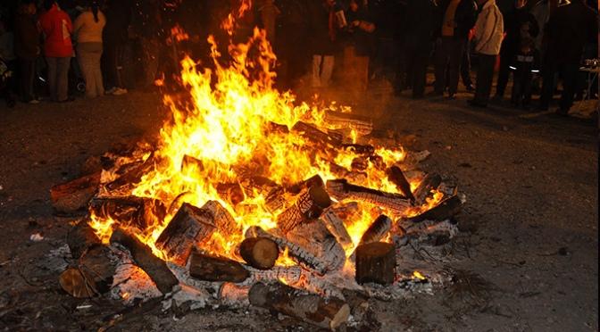 Hogueras de San Antón🔥 en Azagra bajo fianza de 100€
