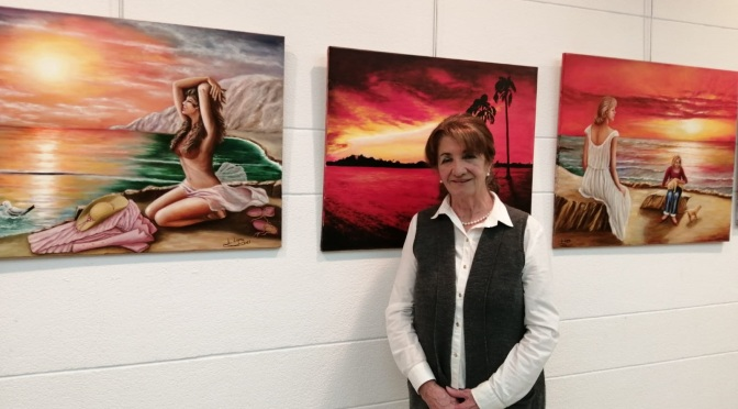 La calagurritana Lucía Lopez Calvo expone en la Sala Caja Rioja de Calahorra