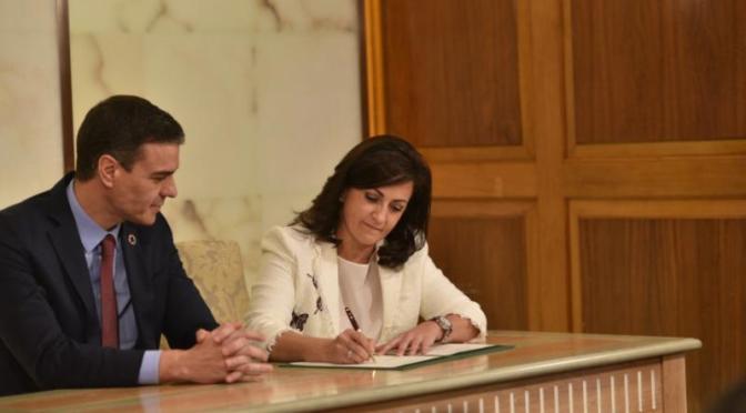 Andreu y Sánchez firman un compromiso entre administraciones para el desarrollo de tres proyectos referentes en La Rioja