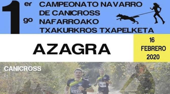I Campeonato Navarro de Canicross en Azagra