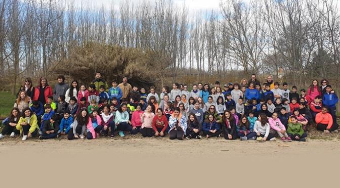 Cerca de 200 escolares de Alfaro manifiestan su compromiso con la Reserva Natural de los Sotos