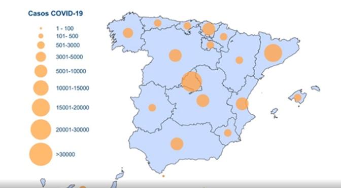 Los casos totales en España llegan a los 94.417 positivos, 9.222 más que ayer