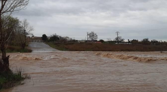 Crecida del río Cidacos en la calle Algarrada