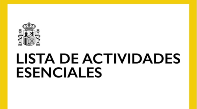 Lista de Actividades Esenciales del nuevo Permiso Retribuido Recuperable