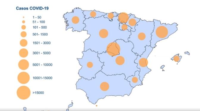 Aumentan a 72.248 casos positivos en España
