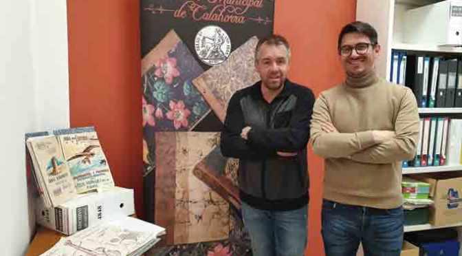 La Unión Calahorrana y Javier Garrido Romanos donan a Calahorra libros y archivos de interés histórico
