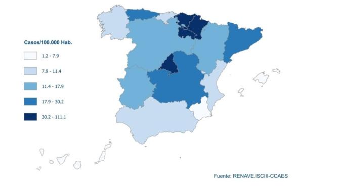 Las Comunidades Autónomas con una mayor incidencia acumulada en los últimos 14 días son La Rioja Madrid, Navarra y País Vasco #Covid-19