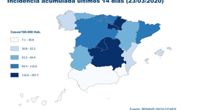 Los positivos en España llegan a los 39.673  casos con más de 3.700 curados