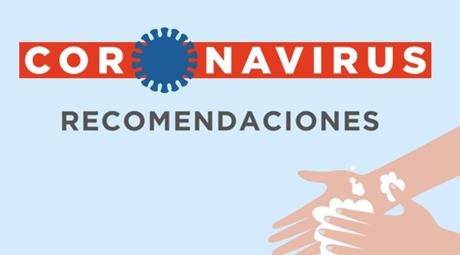CORONAVIRUS: Información oficial y recomendaciones generales