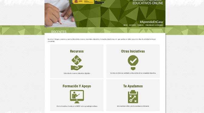 En marcha una nueva web para docentes y familias para facilitar el acceso a recursos y herramientas