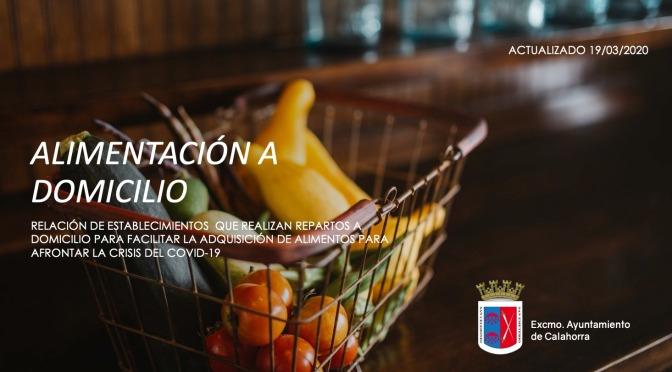 Guía de establecimientos de alimentación de Calahorra que reparten a domicilio
