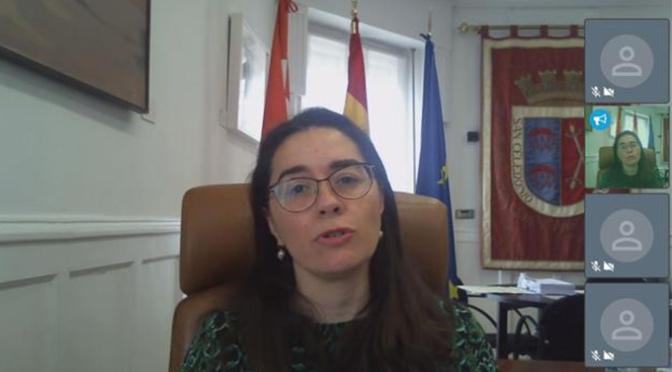 Elisa Garrido, en rueda de prensa virtual explica la gestión del Equipo de Gobierno durante la crisis del Coronavirus