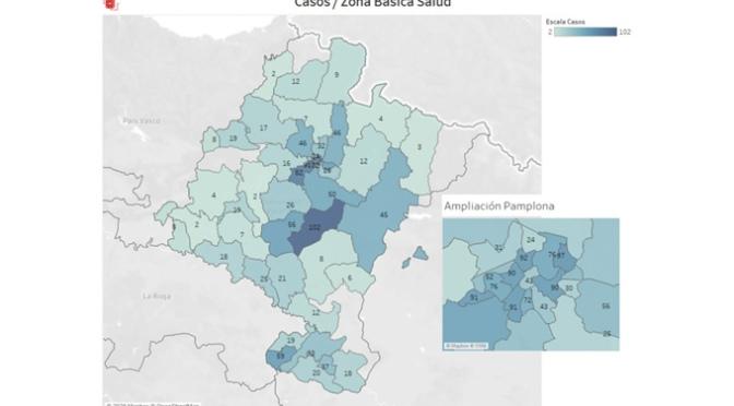 Navarra registra 192 nuevos casos de coronavirus, un 8% más con respecto al total de casos acumulado hasta ayer