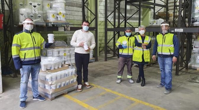Reparto de pastillas de cloro a comercios y familias en Calahorra para la elaboración de líquido desinfectante