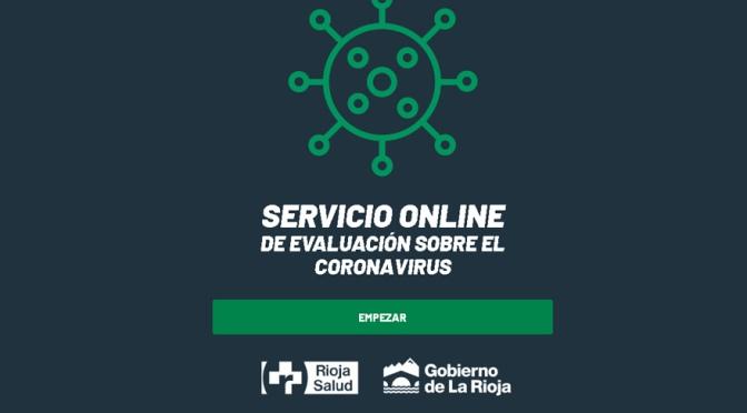 Servicio online de evaluación sobre el coronavirus de Rioja Salud