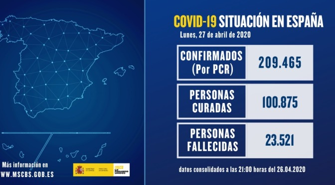 Más de 100.000 recuperados en España de COVI-19