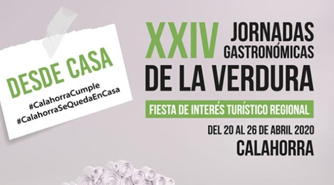 XXIV Jornadas Gastronómicas de la Verdura de Calahorra, eso sí, desde casa