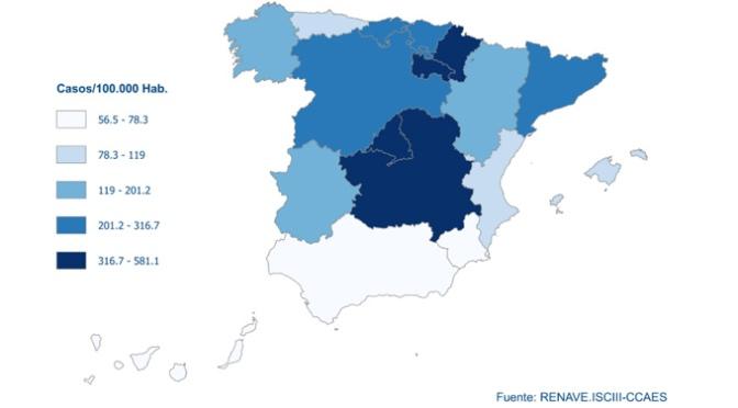 En España sigue descendiendo el número de contagios