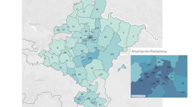 En Navarra, ayer se confirmaron21 nuevos casos por PCR que supone un incremento del 0,4% respecto a los del día anterior