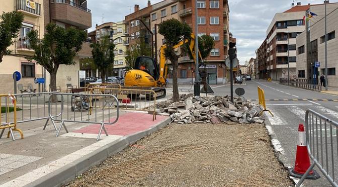 Se retoman las obras en avenida de Numancia, Polígono de Tejerías y los derribos en Portillo de la Plaza y Enramada