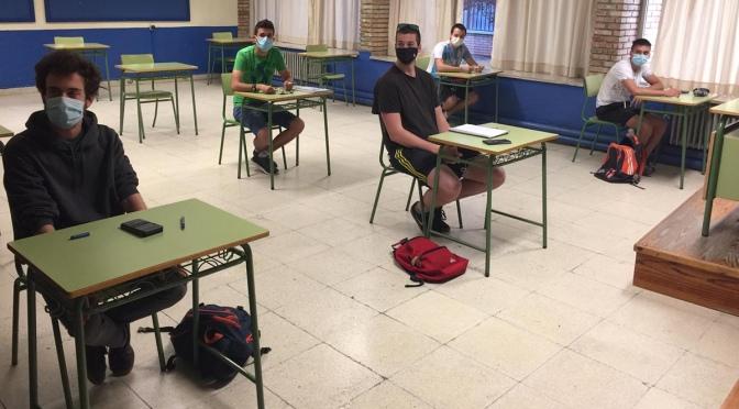 Llegan los Primeros alumnos desde el confinamiento al IES Gonzalo de Berceo