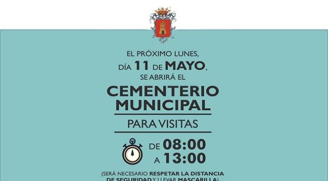 El cementerio de Alfaro volverá a abrir sus puertas este lunes 11 de mayo