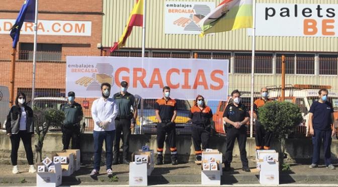 Embalajes Bercalsa dona gran cantidad de material sanitario a varios colectivos de la localidad