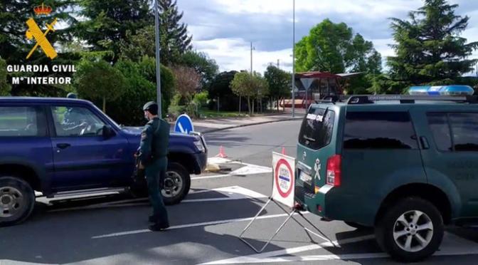 La Guardia Civil de La Rioja ha realizado durante el estado de alarma cerca de 3.000 propuestas de sanción a ciudadanos