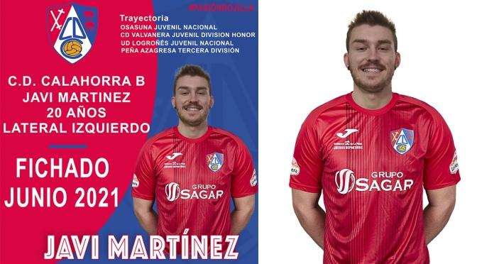 Javi Martínez Pavón acaba de fichar para el equipo del CD Calahorra B